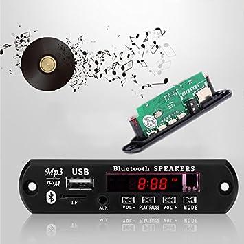 12 V Bluetooth receptor de audio amplificador U disco TF ...