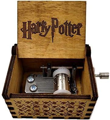 WZZDCaja De Música con Manivela Tallada En Madera Maciza Regalo Caja De Música Hecha A Mano De Madera Retro Multipista Harry Potter: Amazon.es: Hogar