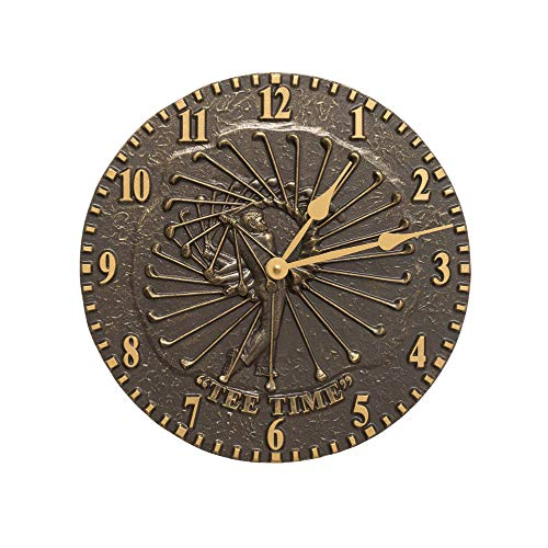 Whitehall Golfer Clock French Bronze