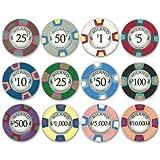 Milano 10gm Premium Clay Poker Chip 12-chip Sample Set - Includes Bonus Cut Card!