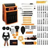 PC Hardware : Jakemy Screwdriver Set, 89 in 1 with 54 Magnetic Precision Driver Bits, Repair Tool kit with Pocket Tool Bag for iPhone 8 / Plus, Computer, Macbook, Cell Phone, PC, Laptop, Tablet, Game Console