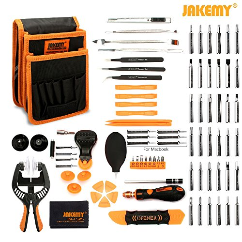 Jakemy Screwdriver Set, 89 in 1 with 54 Magnetic Precision Driver Bits, Repair Tool kit with Pocket Tool Bag for iPhone 8 / Plus, Computer, Macbook, Cell Phone, PC, Laptop, Tablet, Game Console