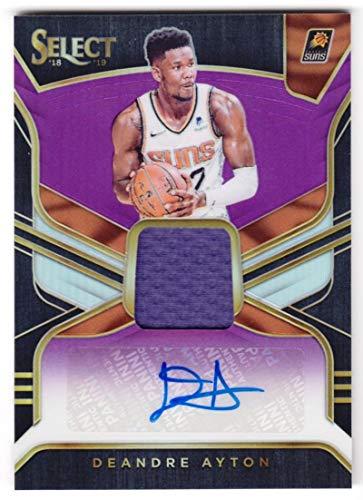 Deandre Ayton 2018-19 Panini Select Rookie Jersey Autographs Purple #18 NM-MT MEM Auto /99 Suns Basketball NBA from Panini Select