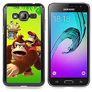 SKCASE Center / Funda Carcasa protectora - Feliz del mono del gorila de la historieta;;;;;;;; - Samsung Galaxy J3 GSM-J300