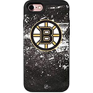 Skinit Wallet Phone Case Compatible with iPhone 7 – Officially Licensed NHL Boston Bruins Frozen Design – 2 Card Wallet iPhone 7 Cover