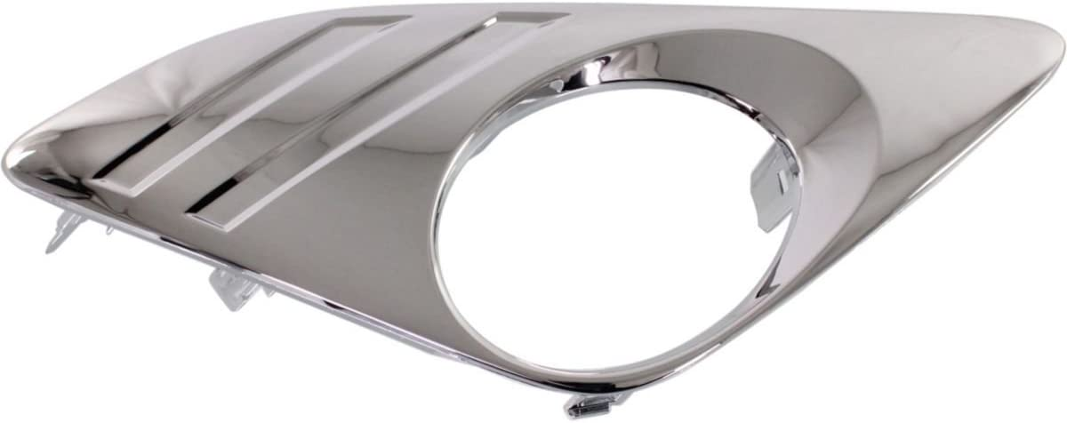 DAT AUTO PARTS Fog LAMP Bezel Replacement for 12-14 Toyota Camry Except SE Models Chrome Right Passenger Side TO1039148