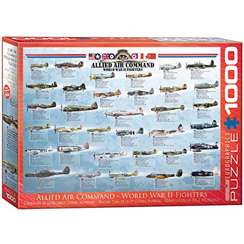 EuroGraphics Allied Air Command WWII Fighter 1000 Piece Puzzle