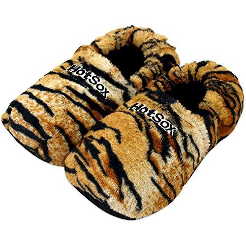 Zapatillas térmicas Pantuflas de granos para el microondas y el horno talla M / EU36-40 crema Tigre