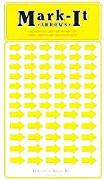 Removable Mark-it brand arrows for maps, reports or projects, two sizes per sheet - yellow