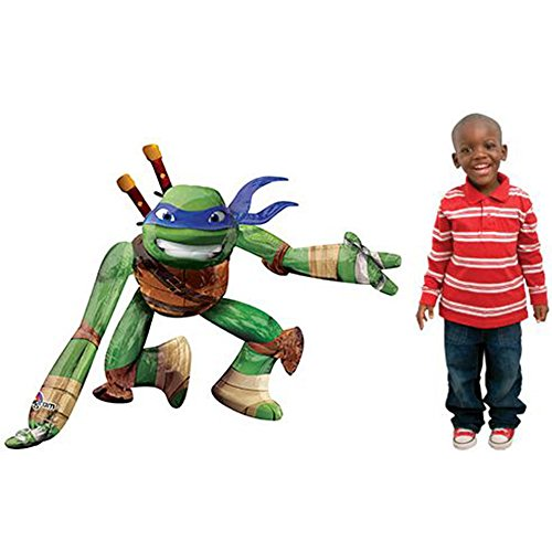 Anagram International A11137001 44quot TMNT Leonardo Airwalker Balloon 1 Pack Multicolor