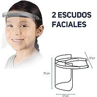 Taurus - Niños - Careta Protectora Infantil Transparente - Escudo Facial Lavable y Reutilizable con Materiales Asépticos - Pack 2 Unidades