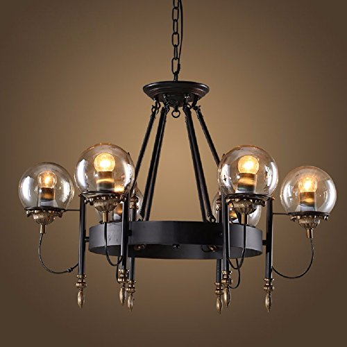 HQLCX Chandelier American Vintage Cafe Restaurant Industrial Chandelier by HQLCX-Chandeliers