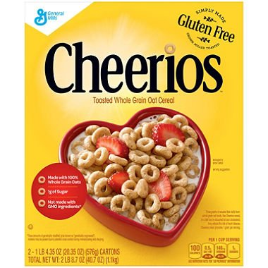 - Cheerios Cereal (20.35 oz., 2 pk.)