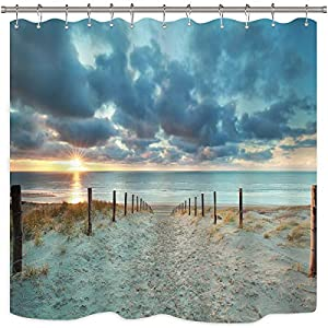 51vFolJ8CkL._SS300_ 200+ Beach Shower Curtains and Nautical Shower Curtains