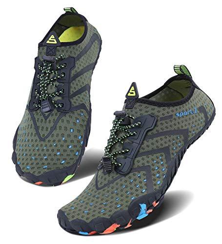 (Water Shoes Lightweight Comfort Sole Easy Walking Athletic Slip on Aqua Sock)