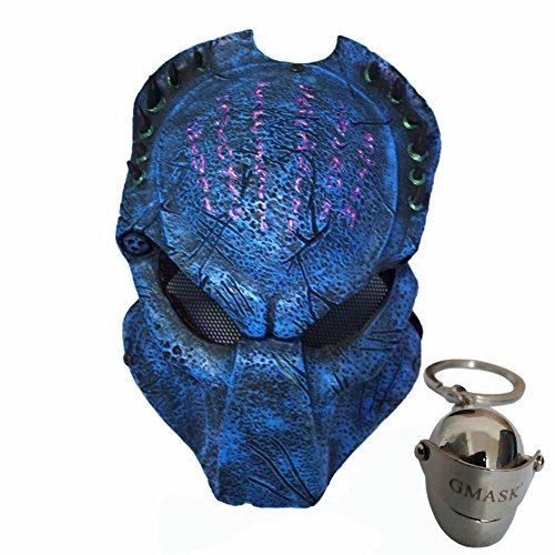 Gmasking Predator AVP Airsoft Protection Paintball Mask (Blue)