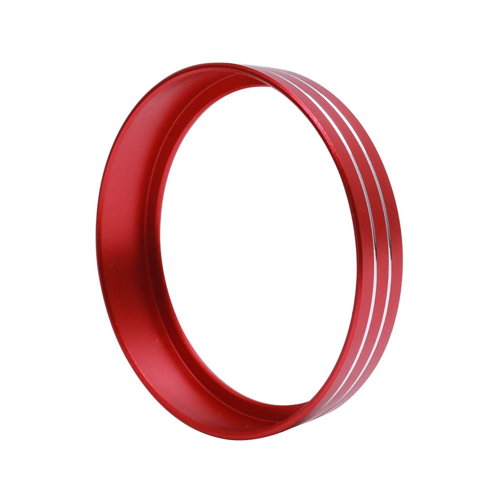 half surround Red Replacement For Ford Mustang F150 2015-2016 Aluminum Alloy Headlight Lamp Adjust Control Button Knob Cover Trim Frame Ring
