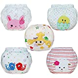 Babyfriend 5 Pack Baby Girl Toilet Cotton Training Pants...