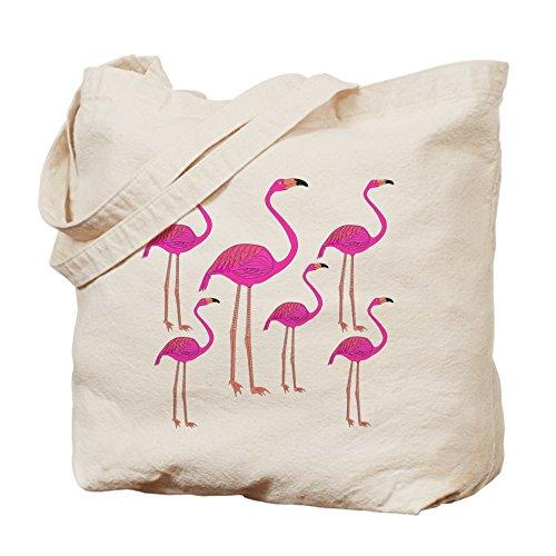 CafePress - Flamingos Tote Bag - Natural Canvas Tote Bag, Cloth Shopping Bag by CafePress