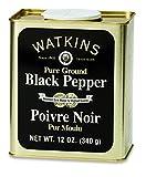 Watkins Pure Ground Black Pepper, 12 Ounce