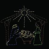 60'' Animotion LED Wire Decor Nativity Scene Outdoor Christmas Decor Holy Family