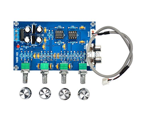 Exiron NE5532 Stereo Pre-amp Preamplifier Tone Board 12-24V AC Amplifier Board by Exiron