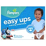 Pampers Easy Ups Training Underwear for Boys, Size 4 (2T-3T), Super Pack, 80 Count
