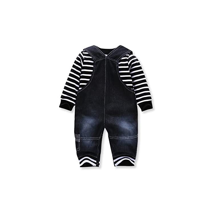 9733f2d79 Cute Baby Boys Clothes Toddler Boys  Romper Jumpsuit Overalls Stripe ...