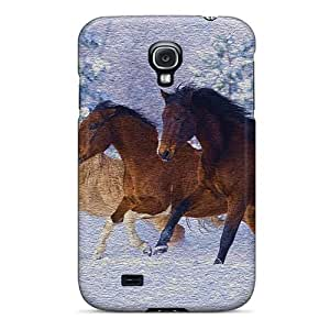 Premium Tpu Horses Running Cover Skin For Galaxy S4