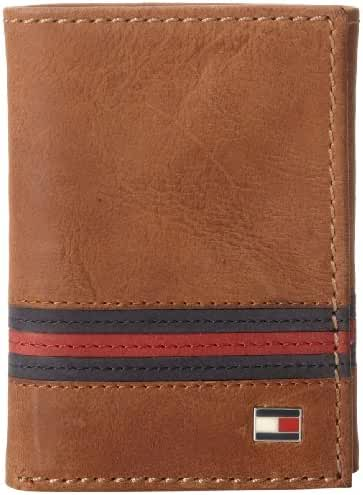 Tommy Hilfiger Men's Leather  Yale Trifold Wallet
