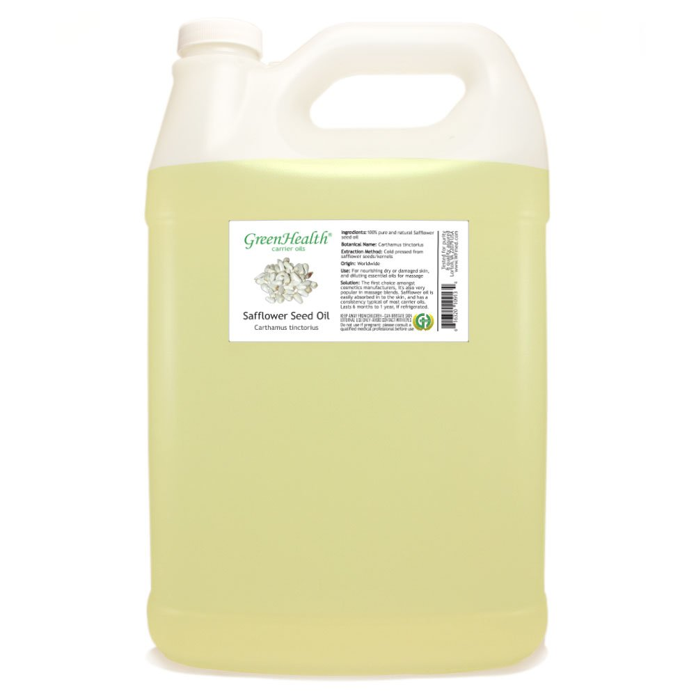 GreenHealth Safflower Seed Oil - 1 Gallon - 100% Pure Carrier Oil by GreenHealth