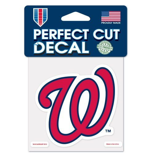 WinCraft MLB Washington Nationals Perfect Cut Color Decal, 4