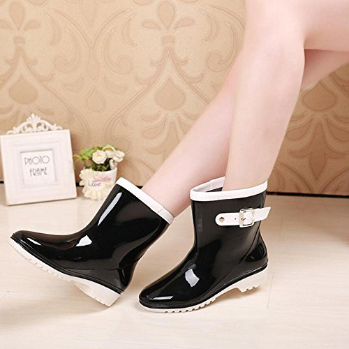 Wear Shoes Overshoes Tube Rain Ms Black Boots Jelly wITn8Y