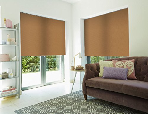 Roller Shade Blind For Window By PeakHut: Stylish Vertical Curtain In 3 Designs – Bamboo Zebra Roller Shade, Blackout Roller Shade And MatSun Roller Shade (34x72 Inch, - Blinds Design