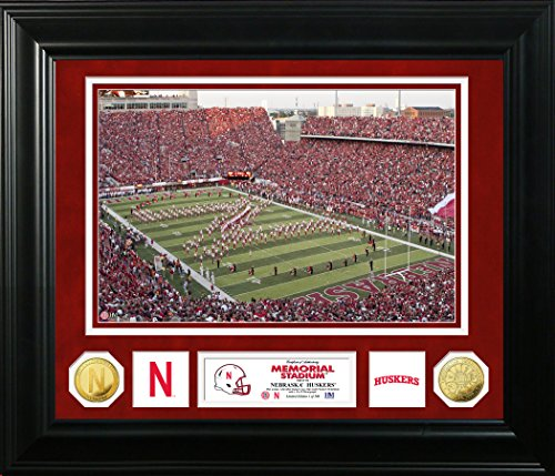- NCAA Nebraska Cornhuskers Special Edition Gold Coin Photo Mint, 32