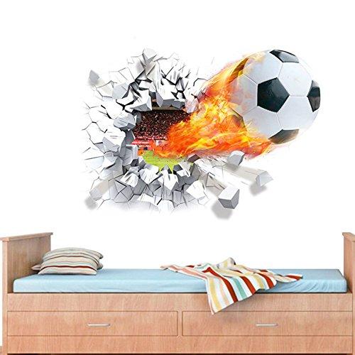 Kids Room Decor Soccer Ball Football Wall Sticker Decal Sport Boy Bedroom Useful N@N (Boy Dresser Decor)