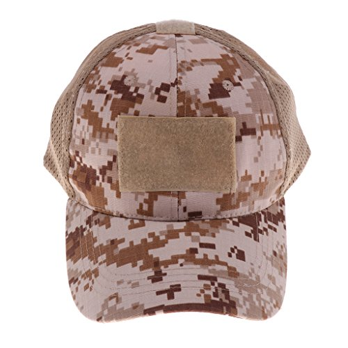 simhoa Baseball Style Military Hunting Hiking Outdoor Mesh Cap Hat 58-60cm - Desert Digital Camo