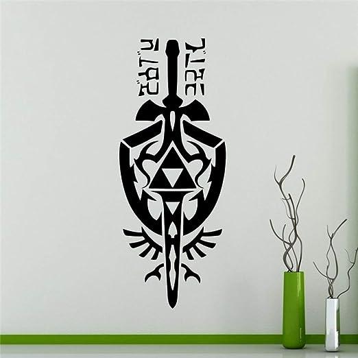 zqyjhkou Zelda Sky Sword Tatuajes de Pared Juego Decoración del ...