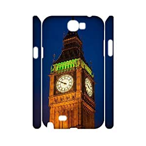 Samsung Galaxy Note 2 N7100 3D Customized Phone Back Case with Big Ben Image