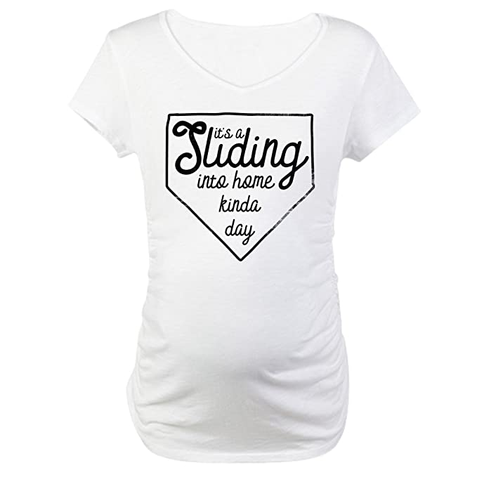 0acee110 CafePress It's A Sliding Into Home Kinda D Cotton Maternity T-Shirt, Cute &
