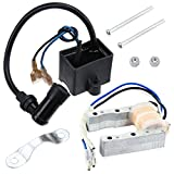 QAZAKY CDI Ignition Coil + Magneto Coil for 49cc 50cc 60cc 80cc 2-Stroke Engines Motor Motorized Bicycle Bike