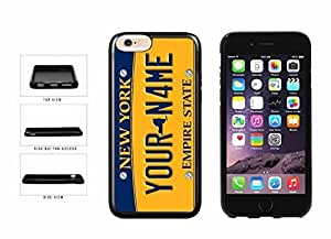 Personalized Custom New York License Plate TPU RUBBER SILICONE Phone Case Back Cover iPhone 6 (4.7 inches)