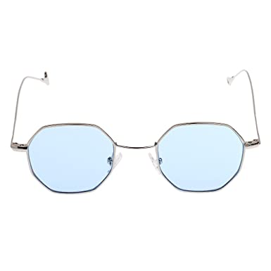MagiDeal Lunettes De Soleil Vintage Rétro Spectacles Rond UV Protection Goggles Unisexe - Rose, Règlable