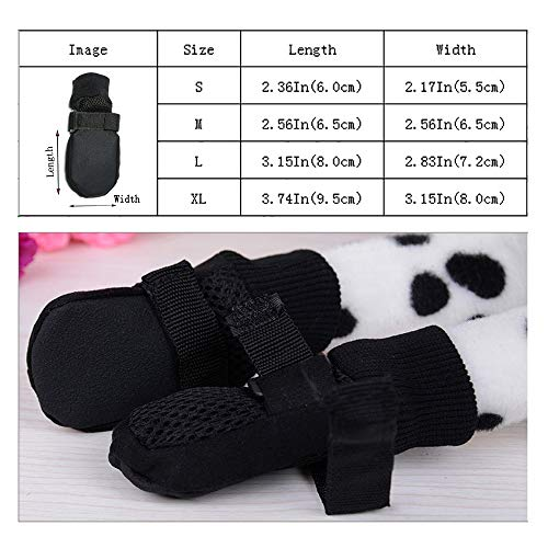 ZHANGU Breathable Dog Paw Protectors Protect Paws with Soft Nonslip Soles Dog Boots for Small Dogs Dog Socks Shoes(Black, S)