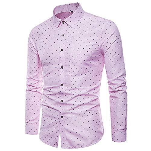 IYFBXl Mens Shirt Polka Dot Print