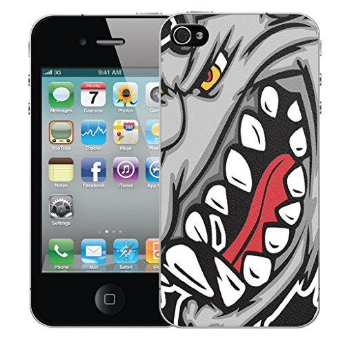 Mobile Case Mate iPhone 4s Silicone Coque couverture case cover Pare-chocs + STYLET - Rhino pattern (SILICON)