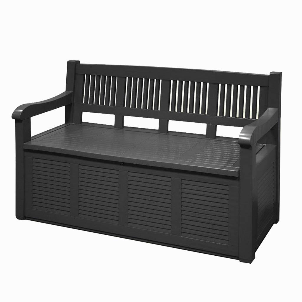 Guaranteed4Less Garden Storage Bench Outdoor Plastic Cushion Box Waterproof Patio Furniture Seat