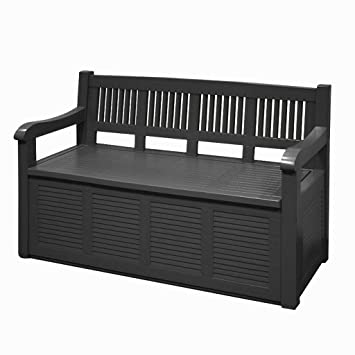 Guaranteed4less Garden Storage Bench Outdoor Plastic Cushion Box