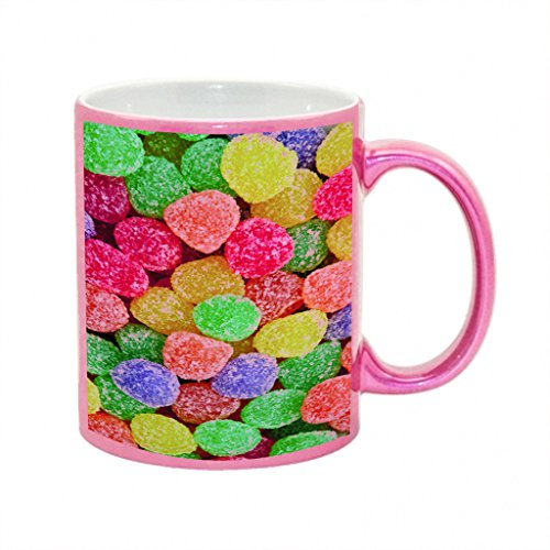 Gumdrops Metallic Pink Sparkle Coffee Mug ()