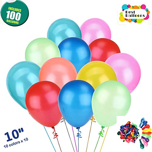 Balloons for Party, Assorted Color Party Balloons (100